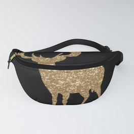 Sparkling golden deer - Wild Animal Animals Fanny Pack