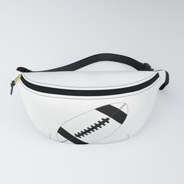 American Football In Black And White Fanny Pack