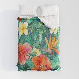 Classic Tropical Garden Duvet Cover