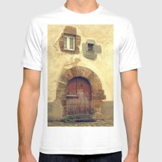 The red door Mens Fitted Tee MEDIUM White