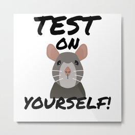 Stop Animal Testing Rat Animal Activism Metal Print