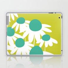 Flowers on Green by Friztin Laptop & iPad Skin
