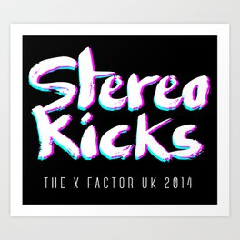 Stereo Kicks - The X Factor - Neon 3D Art Print