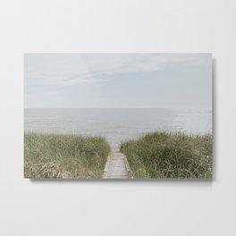 Lake Michigan Boardwalk Metal Print