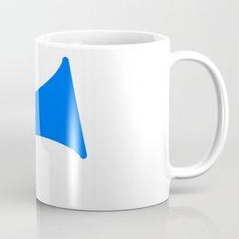 Blue Isolated Megaphone Coffee Mug