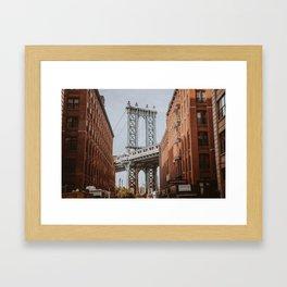 New York City X / Brooklyn Bridge Framed Art Print