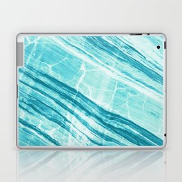 Abstract Marble - Teal Turquoise Laptop & iPad Skin