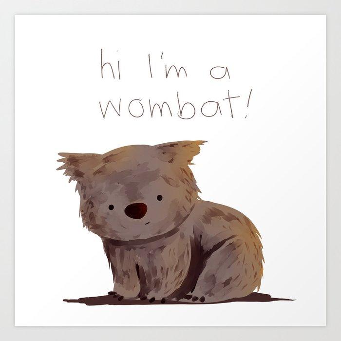 Wombat Kunstdrucke