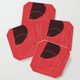 color field - red black white Coaster