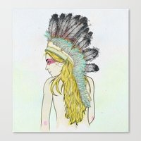 hunting Canvas Prints featuring Hunting // by Lukka