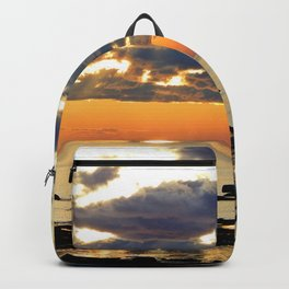 Textures Clouds over the Sea Backpack