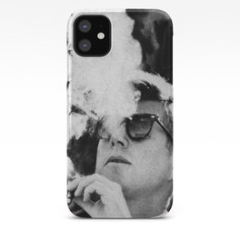 JFK Cigar and Sunglasses Cool President Photo Photo paper poster iPhone Case