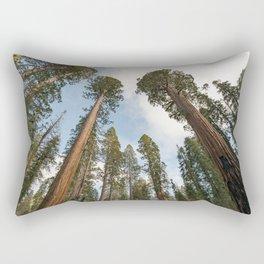Redwood Sky - Giant Sequoia Trees Rectangular Pillow