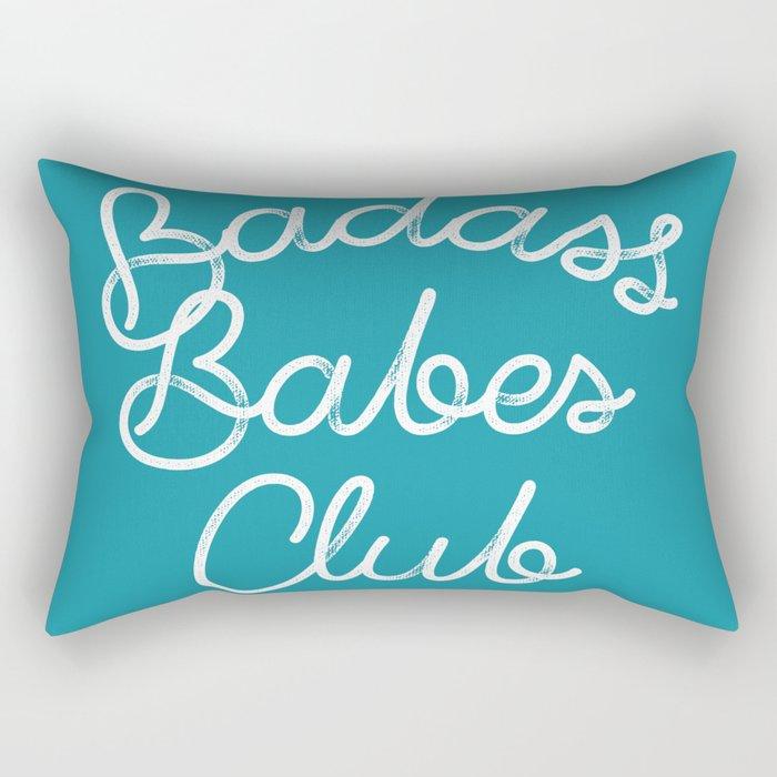 Badass Babes Club Rectangular Pillow