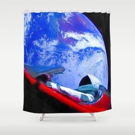 Tesla's Starman Shower Curtain