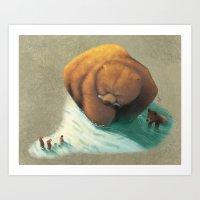 bears Art Prints featuring Bears by Melissa van der Paardt