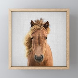 Wild Horse - Colorful Framed Mini Art Print