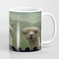 alpaca Mugs featuring Alpaca Farm by TaLins