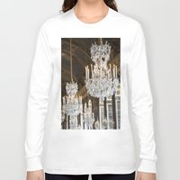 chandelier Long Sleeve T-shirts featuring Versailles Chandelier by Scott Board