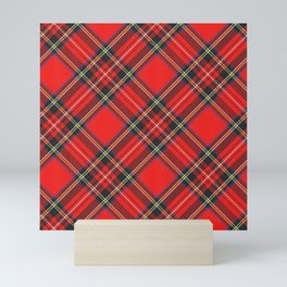 Royal Stewart Tartan Print Mini Art Print
