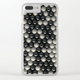 Pattern of black and white spheres Clear iPhone Case