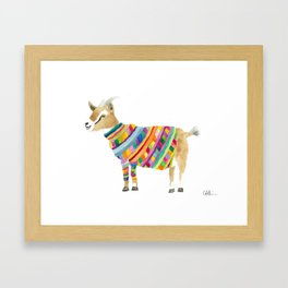 Goat in a Sweater Framed Art Print