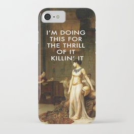 Cleopatra Killin' It iPhone Case