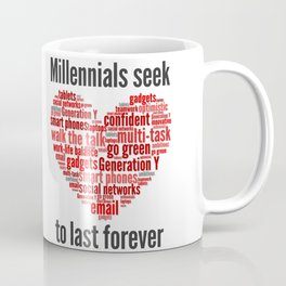 millennials seek love to last forever Coffee Mug