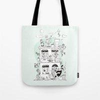 the neighbourhood Tote Bags featuring Neighbourhood by neicosta