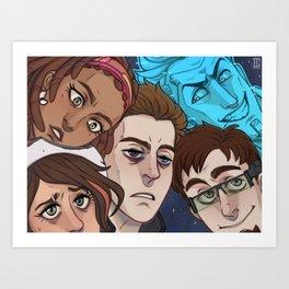 Space Cowdudes Art Print