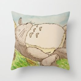 Sleeping Tree Spirit - Watercolor Throw Pillow