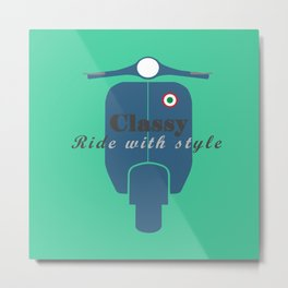 Classic Ride Scooter Metal Print