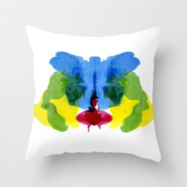 Ink Blotch - Roshak Test Style Throw Pillow