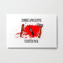Zombie apocalypse - starter pack Metal Print