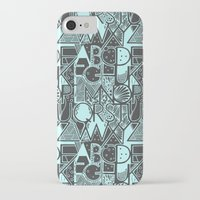 alphabet iPhone & iPod Cases featuring Alphabet by Clare Corfield Carr