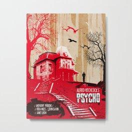 Psycho movie art print Metal Print