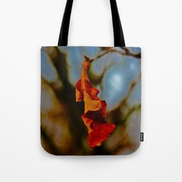 The last leaf standing... Tote Bag