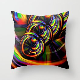 Creations in the color spectrum of the rainbow 3 Throw Pillow