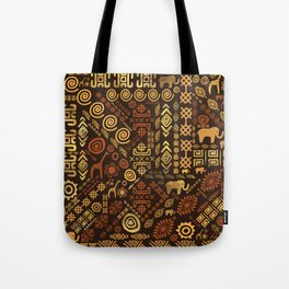 Ethnic African Pattern- browns and golds #12 Tote Bag