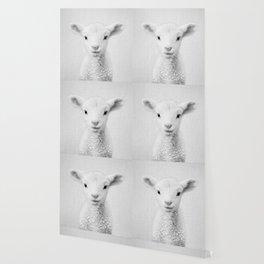 Lamb - Black & White Wallpaper