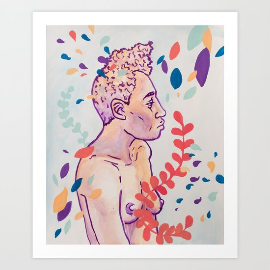 Floral Figure Study Art Print
