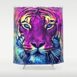 tiger purple spirit #tiger Shower Curtain