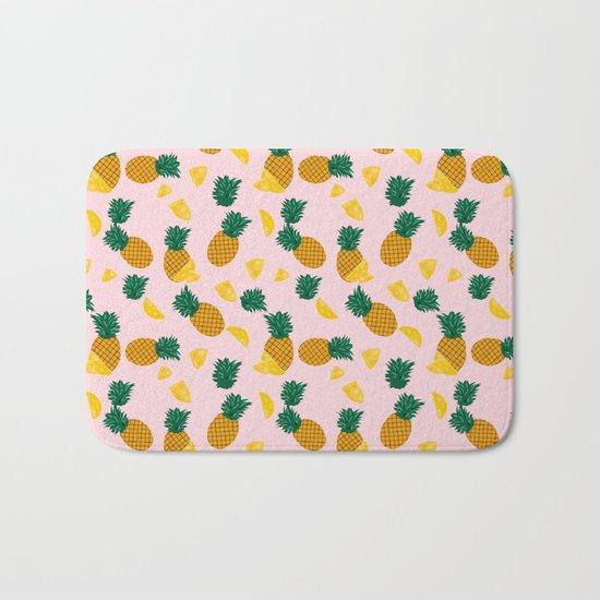 Pineapple Pattern Bath Mat