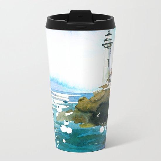 Seascape #3 Metal Travel Mug