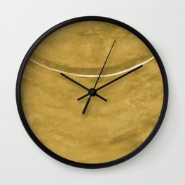 Cohesion Watercolor Print in Yellow Wall Clock