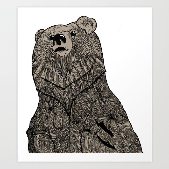Beary Hairy Art Print