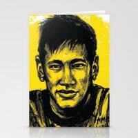 neymar Stationery Cards featuring Neymar by yamini