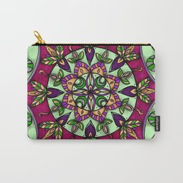 Garden Leaves Mandala Carry-All Pouch
