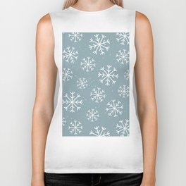 Snow Flakes Winter Biker Tank