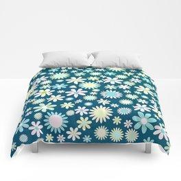 Pastel Floral Background Comforters